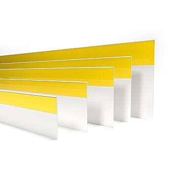 Fensterleiste Flachprofil PVC mit Lippe selbstklebend 40mm breit 3m lang Abdeckleiste