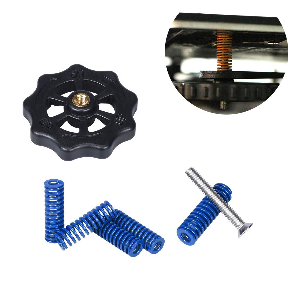 Redrex Durable Bed Leveling Springs and Nuts Upgrading Replacements for CR10 Ender 3 Series 3D Printers