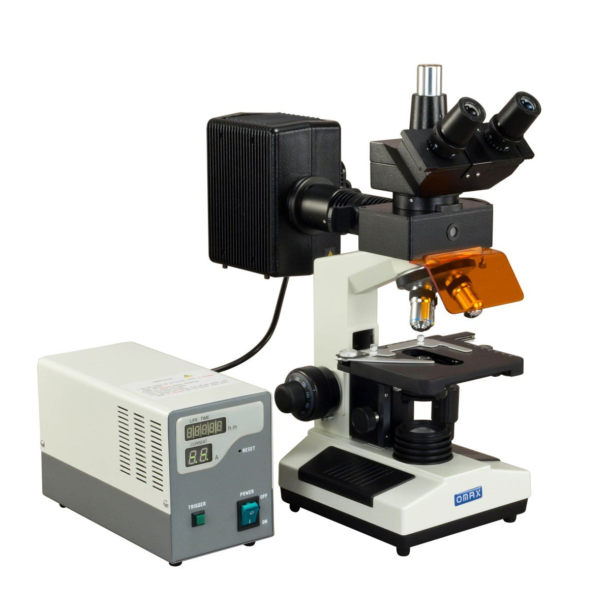 OMAX 40X-1600X Research Trinocular EPI-Fluorescence Compound Microscope by OMAX