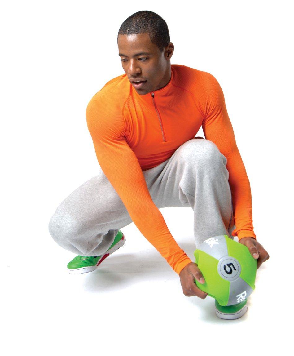 Reebok - Balón Medicinal con Asas Amarillo Amarillo Talla:9 ...