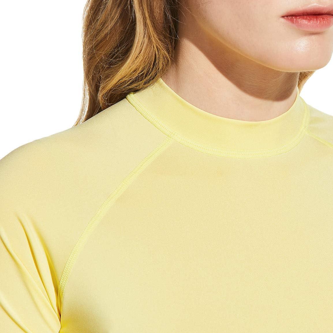 TSLA Womens UPF 50 UV//SPF Surf Swim Shirts Water Beach Swimsuit Top Rash Guard Short Sleeve
