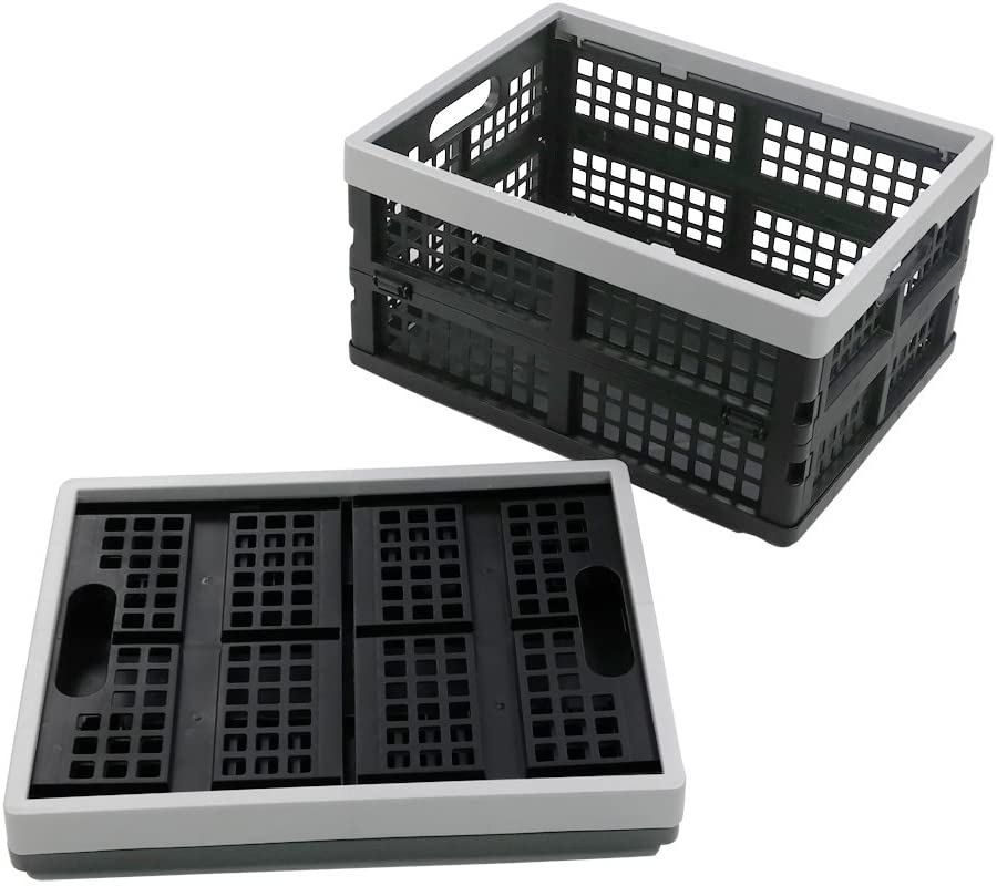 Doryh 16-Liter Collapsible Storage Crates/Stackable Storage Container Basket, Set of 2