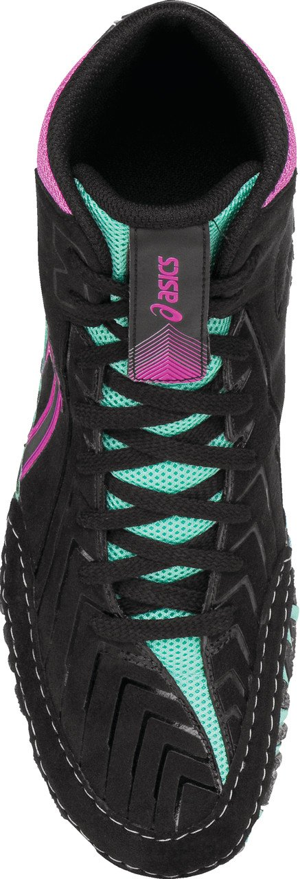 ASICS Men's Aggressor 3 L.E. AG Wrestling Shoe, Black/Onyx/Pink Glow, 7.5 M US by ASICS