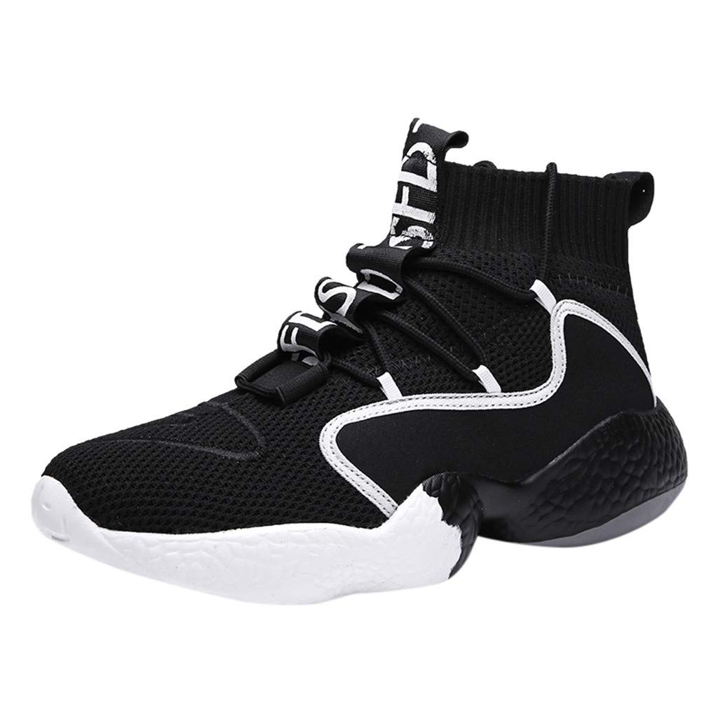 JJHAEVDY Mens Womens High-Top Basketball Shoes Outdoor Non Slip Sneaker Sports Lightweight Mesh Breathable Trainers by JJHAEVDY