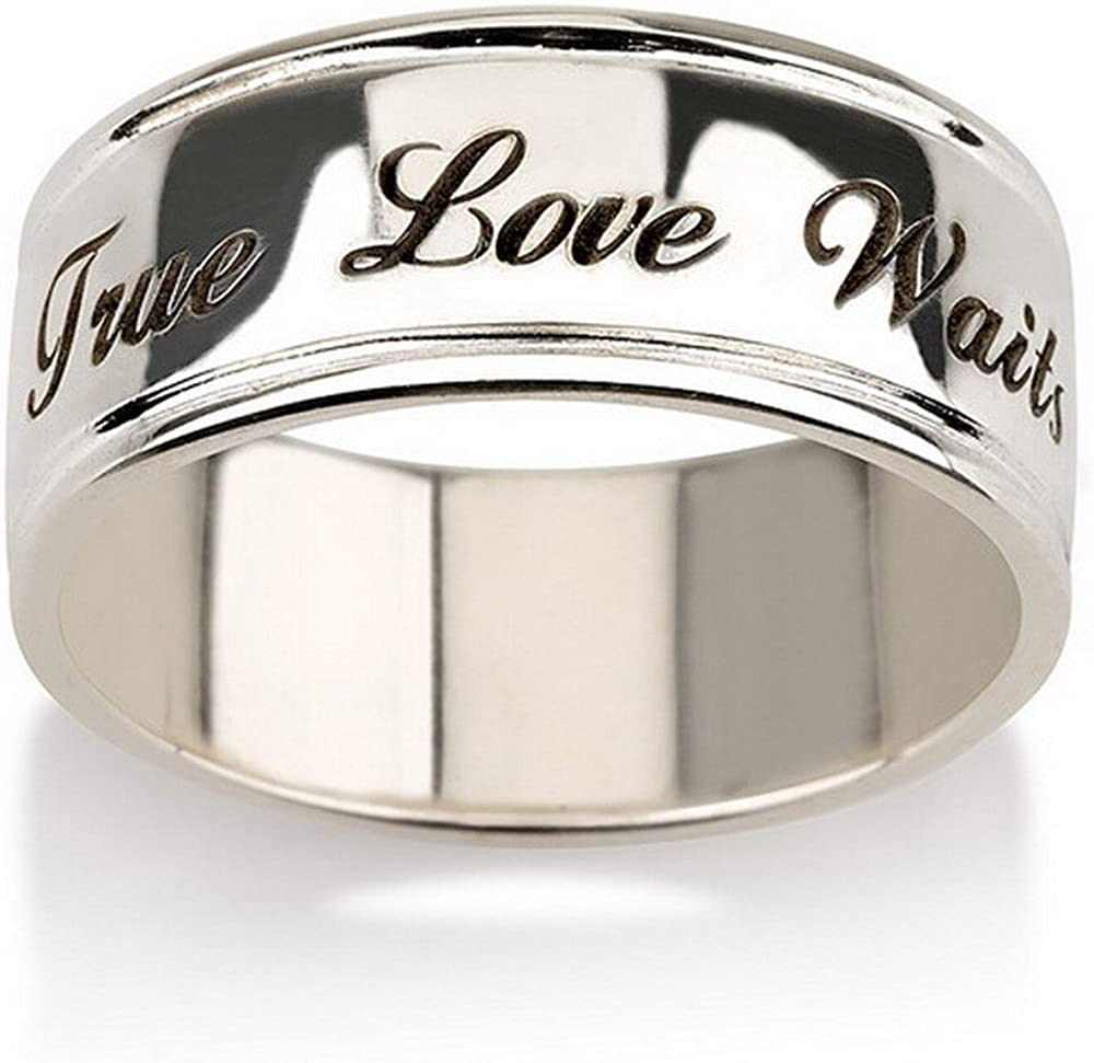 Promise Rings Personalized Wedding Rings Purity Ring,Eternity Rings Wedding Bands His and Hers Titanium Rings Couples Ring Set