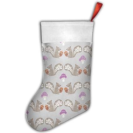 Otoño ardilla compartir tuercas 1 pc personalizado calcetín de Navidad decoración