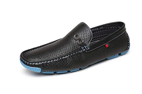 Hombre Nuevo Zapatos sin cordones Conducción Mocasines Negro/café Estilo Italiano Mocasines UK Size: Amazon.es: Zapatos y complementos
