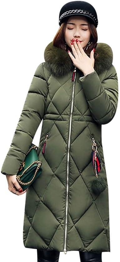 Womens Hooded Coat Down Cotton Ultralight Winter Jacket Puffer Packable Parka