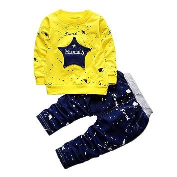 69adba65854b4 2点セット(上着+パンツ)男女兼用 3色 星 インクジェット ベビー服