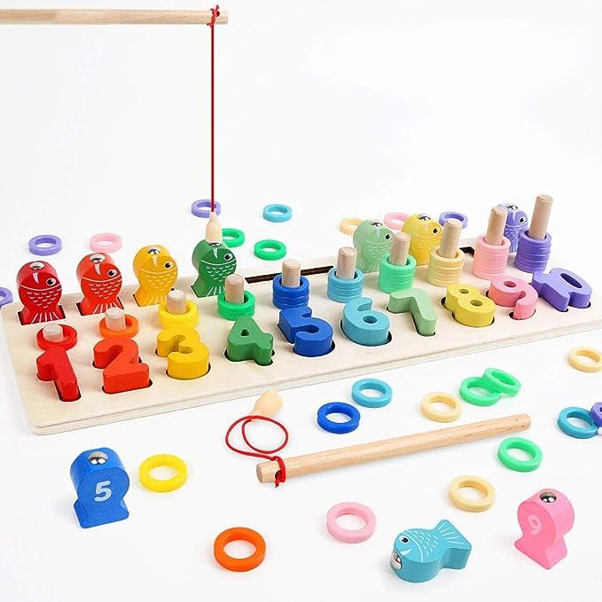Angelspielzeug Holz Lernspielzeug Magnetspiel Motor Skill Vorschule Lernspielzeug f/ür 3 4 5 Jahre Junge M/ädchen Kleinkind Geburtstagsgeschenk Sensorisches Spielzeug