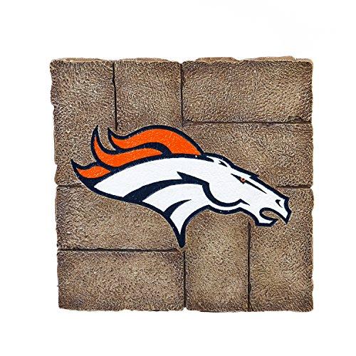Team Sports America Denver Broncos Garden Paver Team Logo Decorative Stepping Stone ()