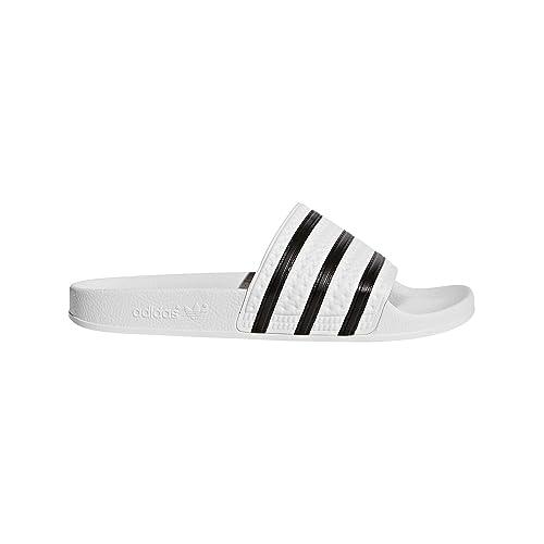 great fit aaea1 10973 adidas Originals Mens Adilette Sport Slide,WhiteBlack,6 D(M)