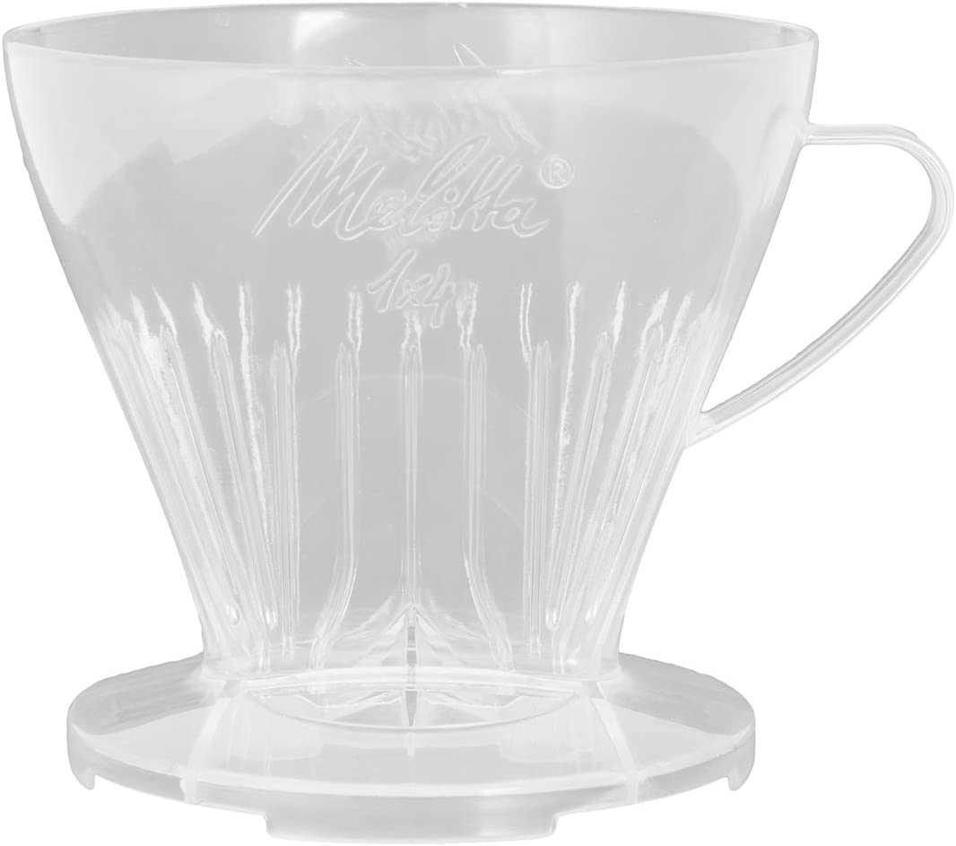Melitta Pour Over Size 1x4, 6761018, Filter Holder, Used with 1 Jug or 2 Cups, Plastic, Transparent