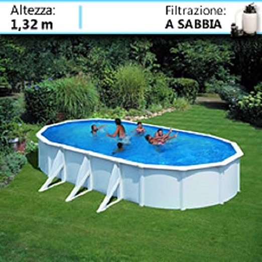 PISCINE ITALIA Atlantis KITPROV818 - Piscina de Acero Ovalada (800 ...