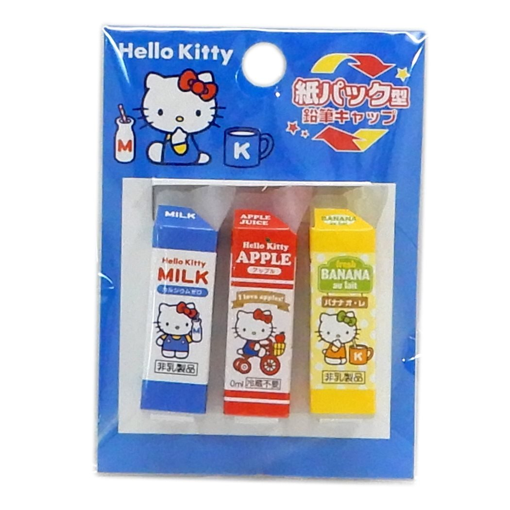 Sanrio Hello Kitty Pencil Cap Parody Pencil Cover Three Set SAKAMOTO 24507401