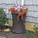 Good Ideas IMP-N50-DBR Impressions Nantucket Rain Saver Rain Barrel, 50 Gallon, Dark Brown
