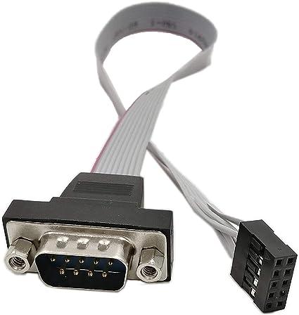 Amazon | SinLoon DB9 RS232-10ピン リボン ケーブル コネクタ ...
