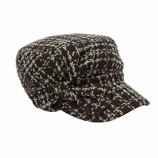 YQ Women s Winter Tweed Military Hats Cadet Caps Size M Green at ... 87b5735ddf