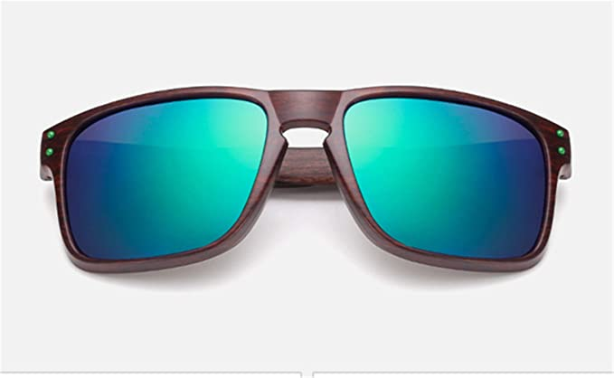 Amazon.com: Gafas de sol para hombre, de madera, gris ...