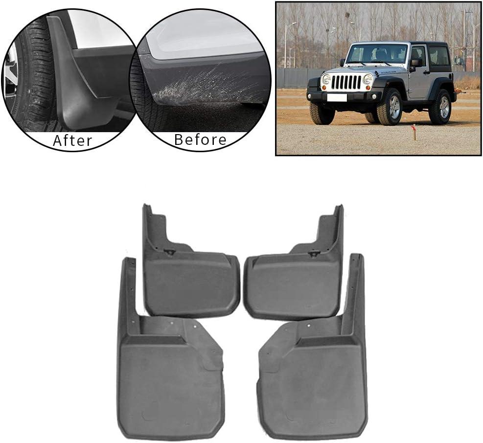 Car Mud Flaps for Jeep Wrangler 2007-2016 Car Wheel Custom Mudflaps Front Rear MudGuards Premium Heavy Duty Rally Armor Fender 4PCS
