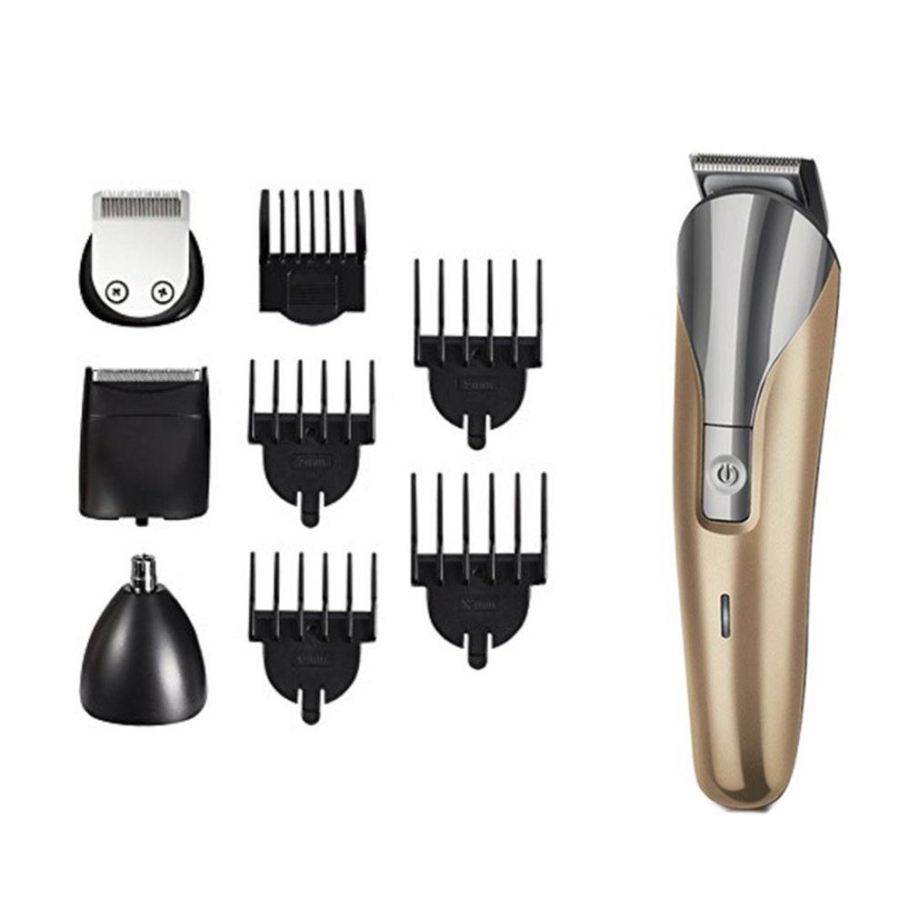 Professional Beard Trimmers Grooming Kit Hair Clippers Men Shaver Mustache Trimmers Nose Ear Hair Trimmers Full Set Rechargeable Cordless Men's Body Hair Cutting Personal Care