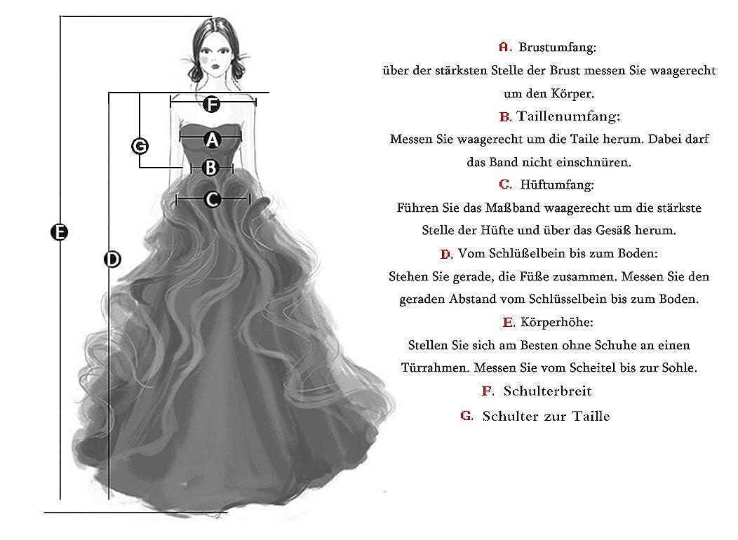 A-Linie Brautkleid Spitze T/üll Hochzeitskleider V-Ausschnitt Abendkleider Lang
