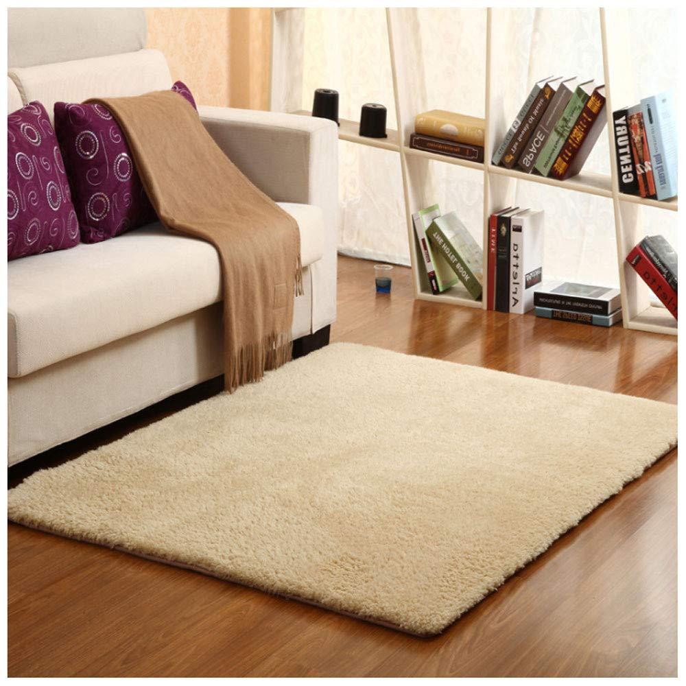 カシミヤポリエステル厚くする滑り止めカーペットリビングルームのコーヒーテーブルの寝室のカーペットフットパッドベッドサイドのカーペット窓のカーペット洗えるカーペット (Color : E, Size : 160x230cm)