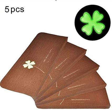 Fdit Pack of 5 Luminous Carpet Stair Treads Mats Glue- Self-Adhesive PVC Non-Slip Floor Staircase Car