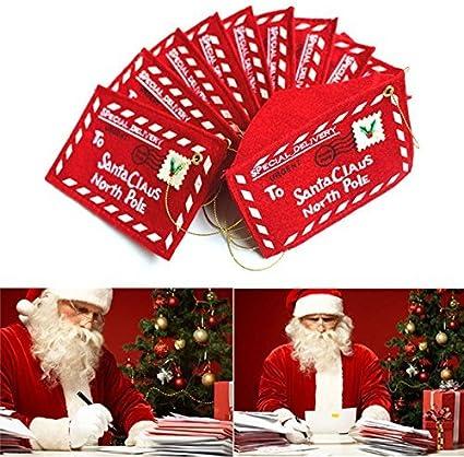 ParaCity Navidad sobre dinero cartera con Titulares de tarjetas de regalo para niños (Pack de 10): Amazon.es: Oficina y papelería