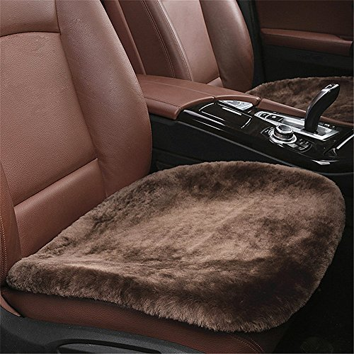Silence Shopping 1Piece Sheepskin Seat Pad -Universal Fit - Leather and Patented Non Slip Backing for Comfort in Car, Plane, Office, or Home (Fit Sheepskin Pad)