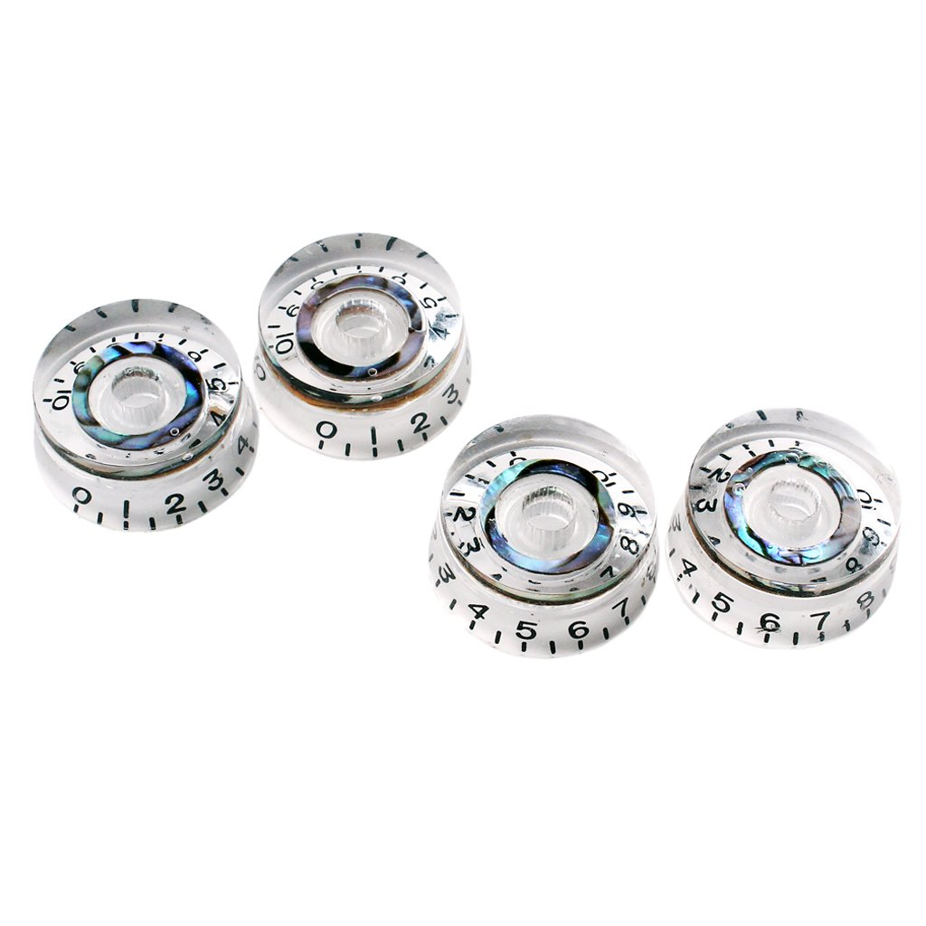MonkeyJack 4x Speed Control Knobs Abalone for Gibson Epiphone Electric Guitar Replacement Parts