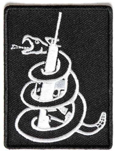 (Snake Wrapped Around AR-15 Rifle Gun 2nd Amendment Patch)