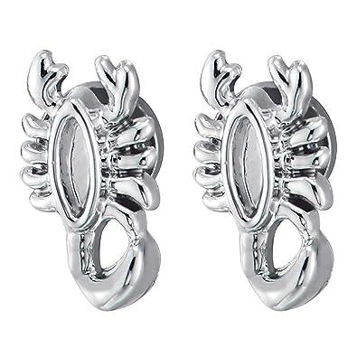 Amazon Com Small Magnetic Scorpion Stud Earrings For Men Women Non