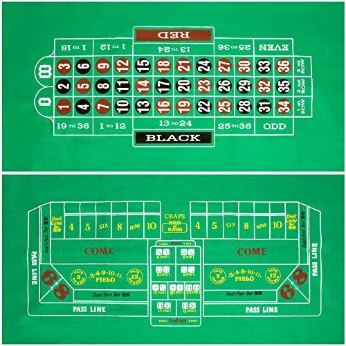 Craps and Roulette Table Felt by (Travel Roulette Set)