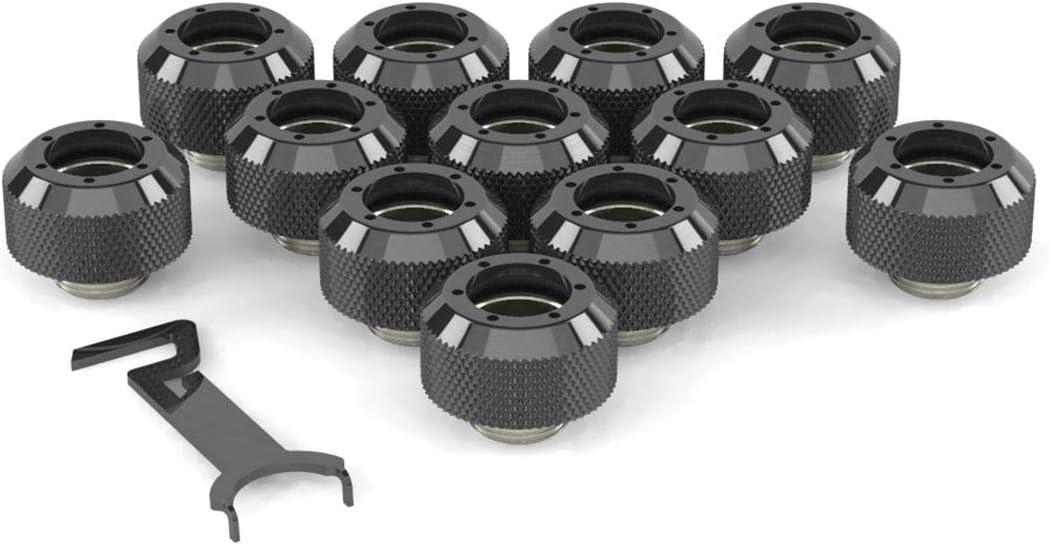 TX Matte Black PrimoChill 1//2in Rigid RevolverSX Series Fitting 6 Pack