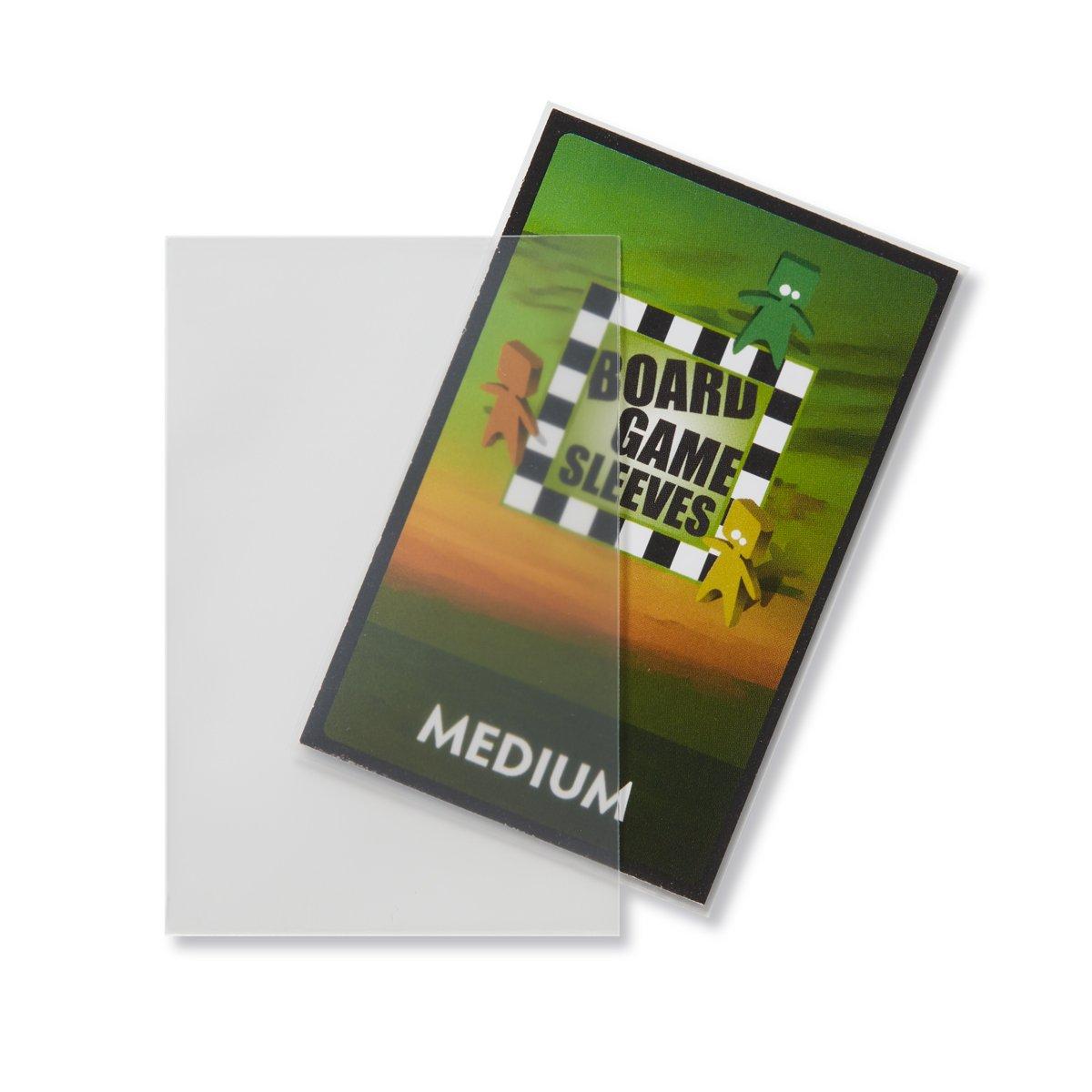 Bundle of 2 Arcane Tinmen Medium Non-Glare Board Game Card Sleeves 57mm x 89mm 100 Sleeves Total