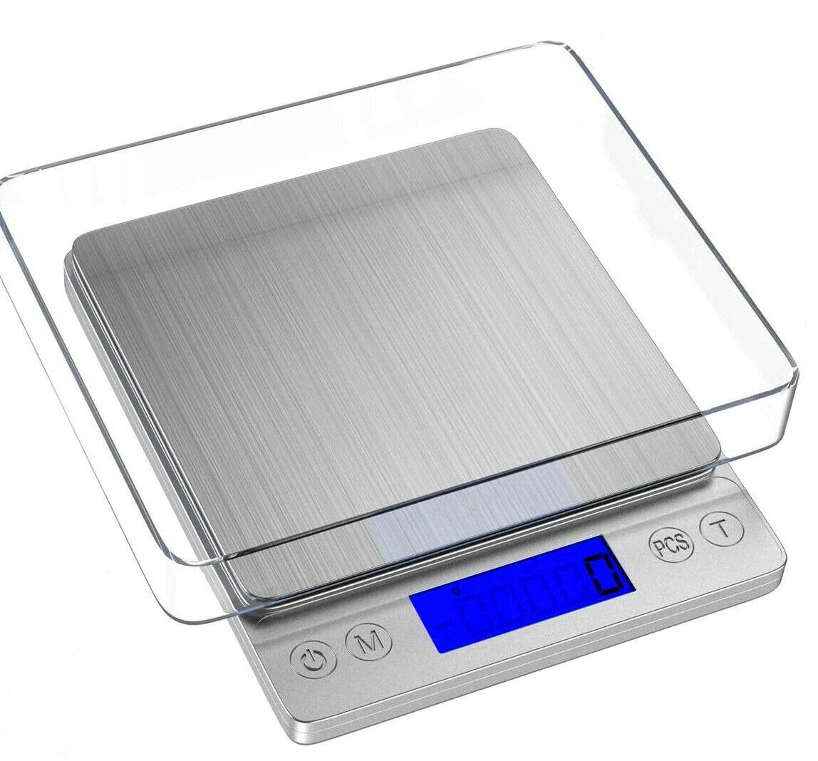 Food Digital Kitchen Scale, Tooackl Multifunction Scale Measures in Grams and oz for Cooking Baking, 0.01 oz/4.4 lbs Precise Graduation, Coffee Scales Grams Nutritional Calculator.
