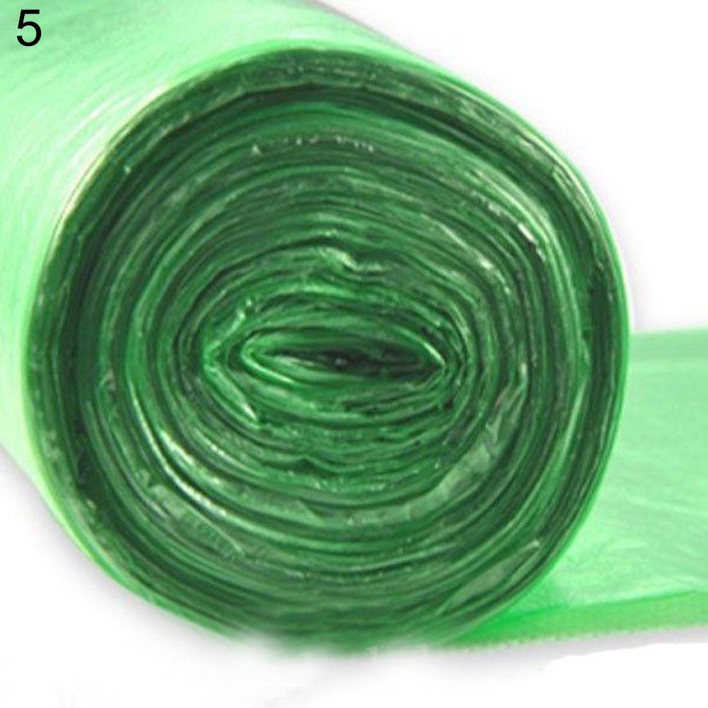 Slendima 50Pcs Eco-Friendly Disposable Thicken Garbage Bags Trash Cans Waste Baskets - Leak-Proof Green