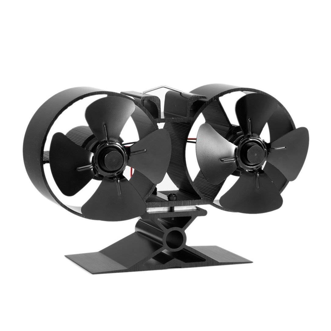 F260 4 lame doppio di calore Stufa Powered Fan di carburante di risparmio energetico stufa Fan Fan Eco-friendly Per la casa Accessori Cucina