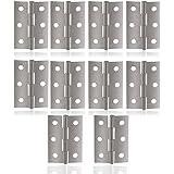 Cerniere in acciaio inox 10pcs in acciaio inox Finestra Armadio Cerniere Connettori (Silver)