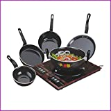 kitchentop Perfect Collections Set of 5 Pcs Bottom Cookware Set (Non-Stick), 5 - Piece) Made in India