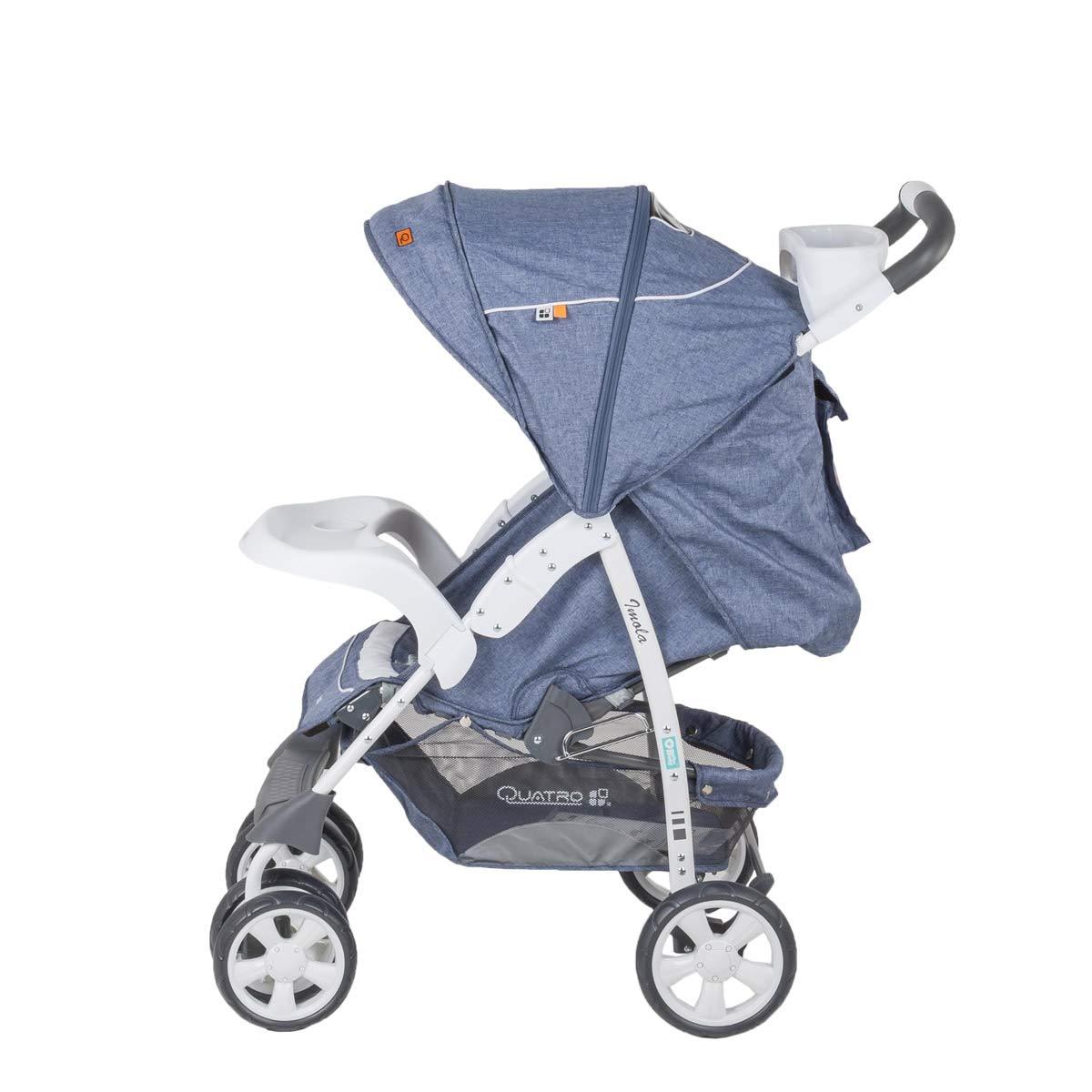 BeBe-Mobile Kinderwagen Buggy Jogger Sportwagen Kinderbuggy Klappbar Quatro Imola 11 blau