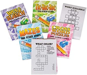 HAPPY DEALS ~ 36 pc- Mini Fun and Games Mini Activity Coloring Books - Bulk Class / Group Pack - Toys and Novelties