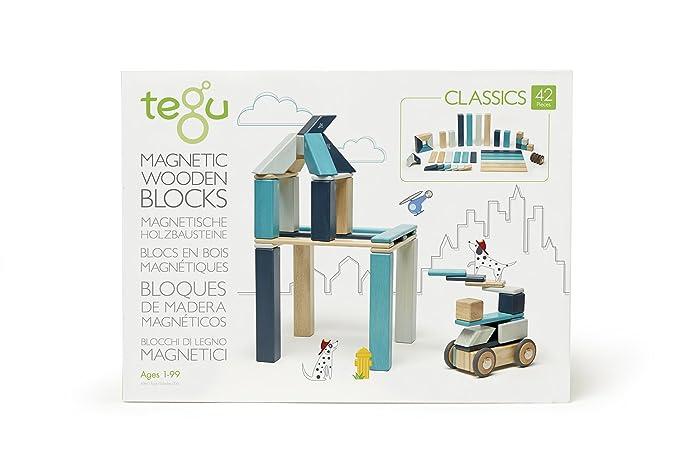 Tegu - 42P-BLU-508T - Blocs de Bois Magnétiques - Blues