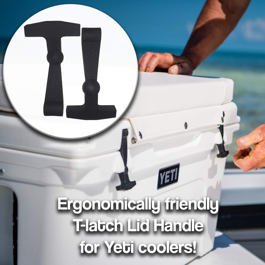2-Pack of Replacement Lid Latches Compatible With Yeti Hard Coolers - Larger, More Durable, Ergonomically Improved Design That Fit on all Yeti Tundra and Roadie Coolers by BEAST Cooler Accessories (Image #5)