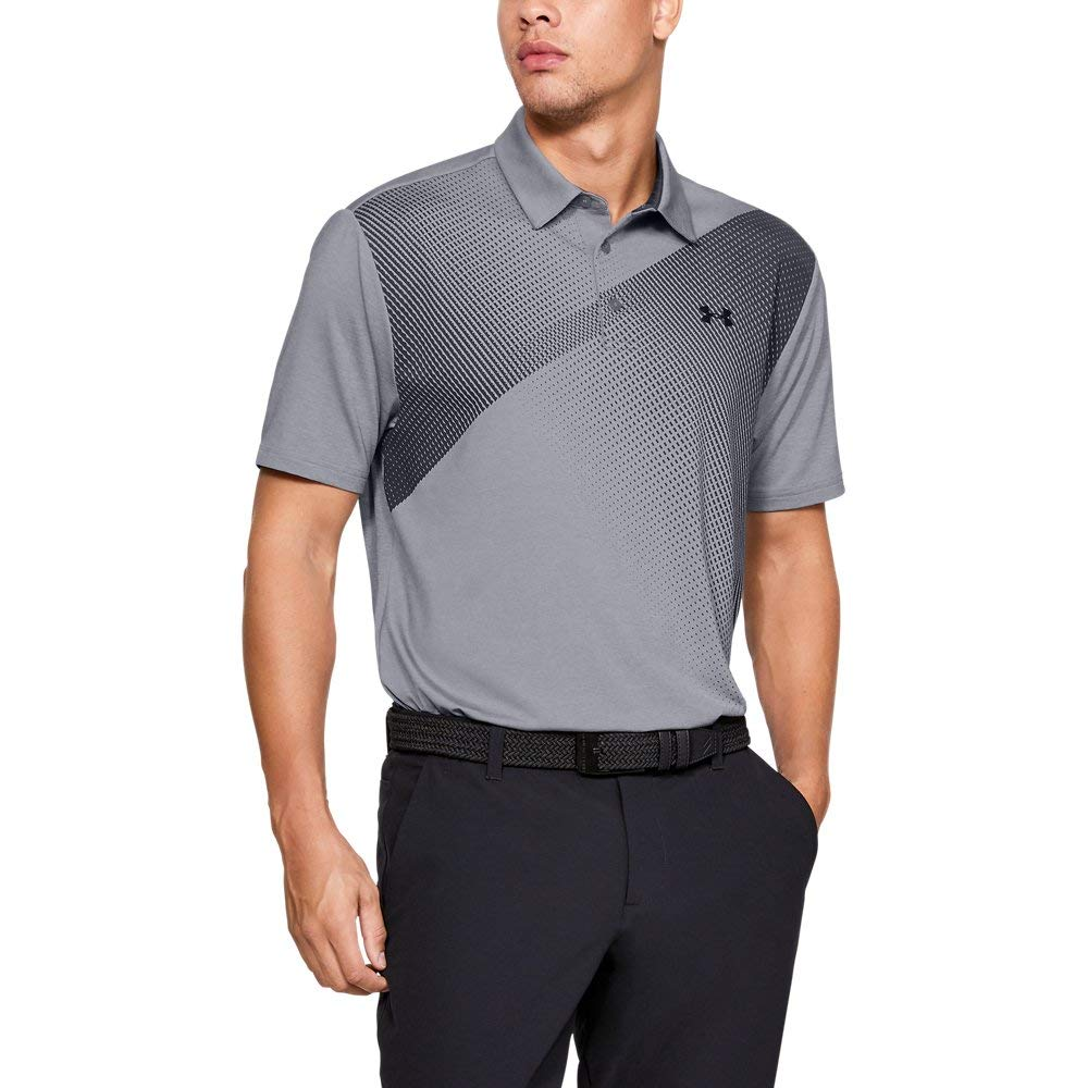 Under Armour Men's Playoff Golf Polo 2.0, Steel/Black, Medium by Under Armour