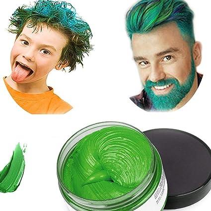 Cera del color del pelo, peinado mate natural para party.osplay, Halloween (Verde)