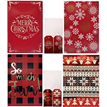 Christmas Printed Shirt Gift Boxes with Glitter or Foil Stamped (Tissue & Tags Included) (Pack of 4)