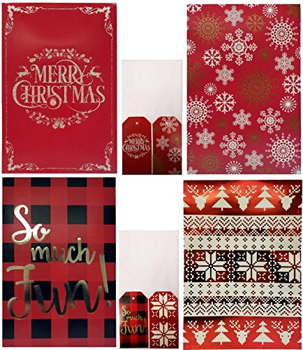 Christmas Printed Shirt Gift Boxes with Glitter or Foil Stamped (Tissue & Tags Included) (Pack of - Place Ave 5th
