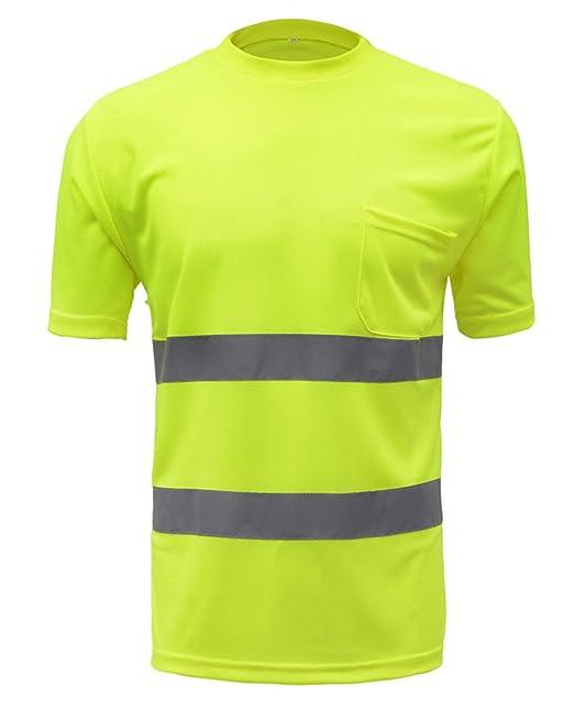 SFVest - Camiseta Reflectante T-Shirt de Alta Visibilidad Polo ...
